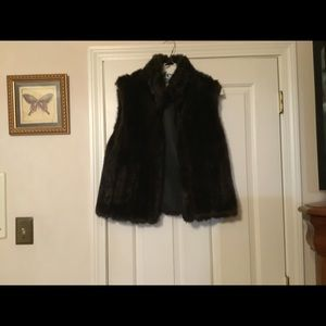 This is a lovely Style & Co faux fur vest Medium